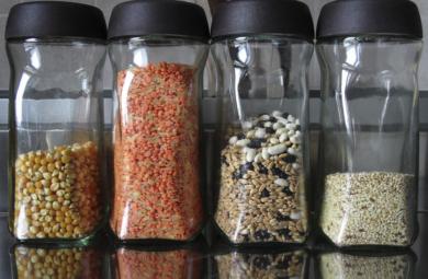 bocaux contre mites alimentaires
